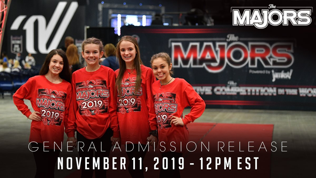 Happy #MAJORSMonday You've been asking for #MAJORS20 general admission ticket information and it's finally here! SAVE THE DATE so you don't miss out on the most MAJOR night of the season!   For information regarding tickets, visit us at  http:// majorscheer.com/#tickets       #ItWillBeMAJOR<br>http://pic.twitter.com/A1wO7ru3Jb