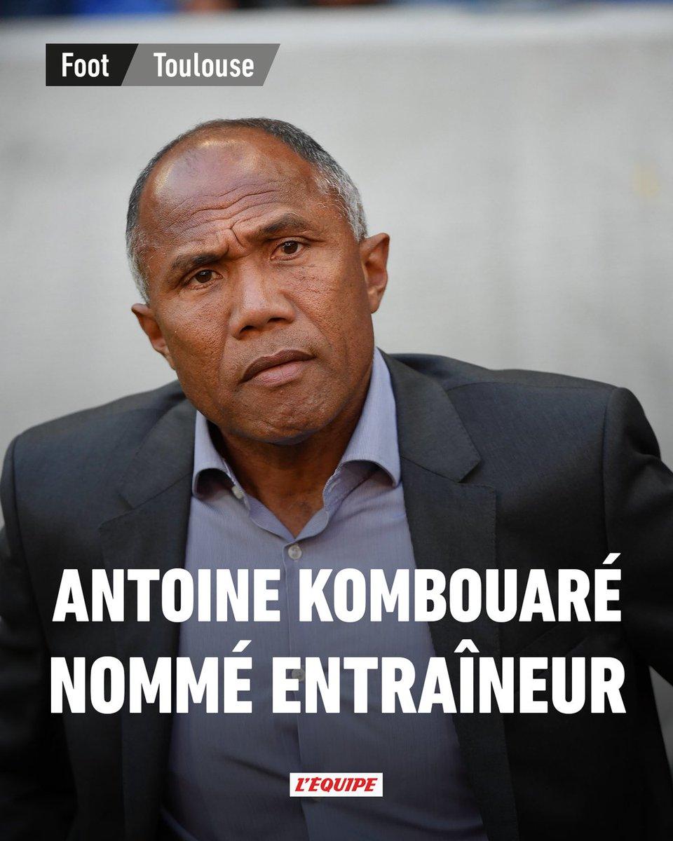 Comme annoncé dimanche, Antoine Kombouaré sest engagé ce lundi avec le TFC. Il succède à Alain Casanova sur le banc toulousain ow.ly/Povj30pIsyR