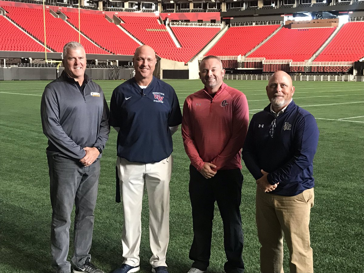 AD Collaboration at the Benz with the NFL InsideOut Initiative. Thanks to @AtlantaFalcons for hosting #EducationBasedAthletics #TransformationalLeadership @whsathlactivity @CherokeeAD @KnightNation_09 @ChiefsSequoyah
