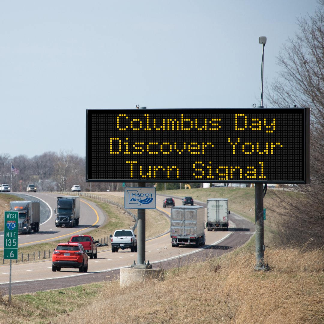 Image posted in Tweet made by MoDOT on October 14, 2019, 4:01 pm UTC