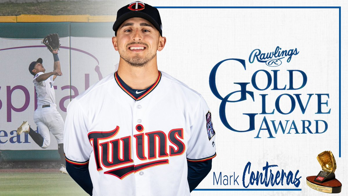 Golden. Congratulations to Mark Contreras on receiving the 2019 Rawlings Gold Glove Award in left field! More: atmilb.com/2MDQbGw
