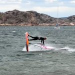 Image for the Tweet beginning: Freestyle windsurfing at Sweden's west