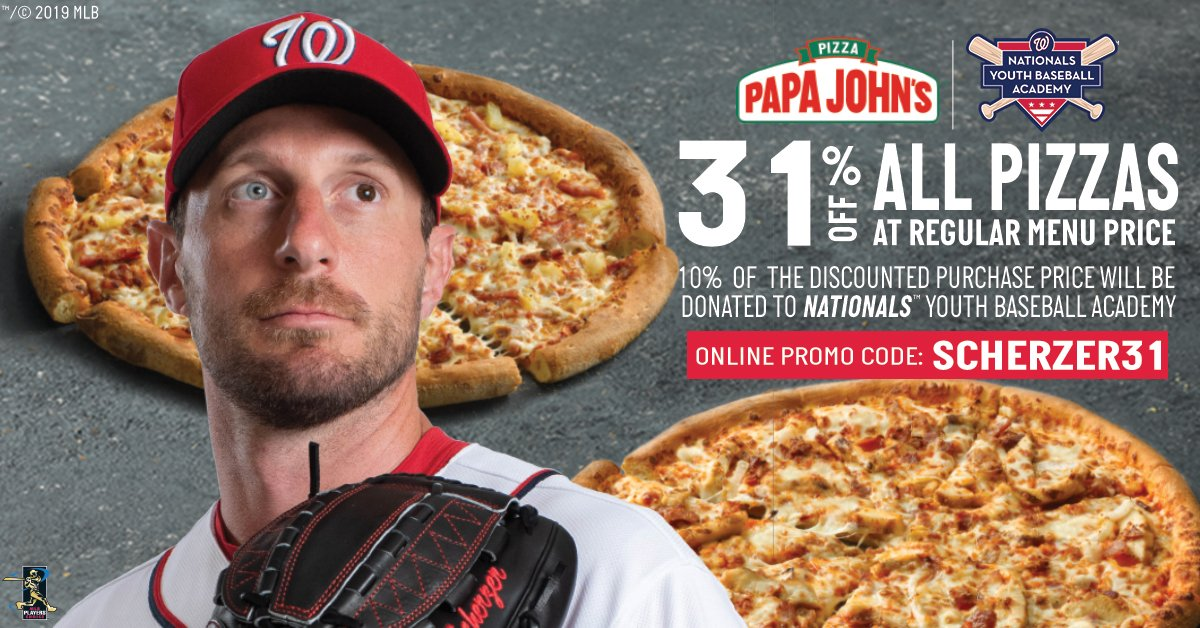 What's better than the Max Scherzer Special to watch our Nats play today?   Order @papajohns_DMV and #STAYINTHEFIGHT!