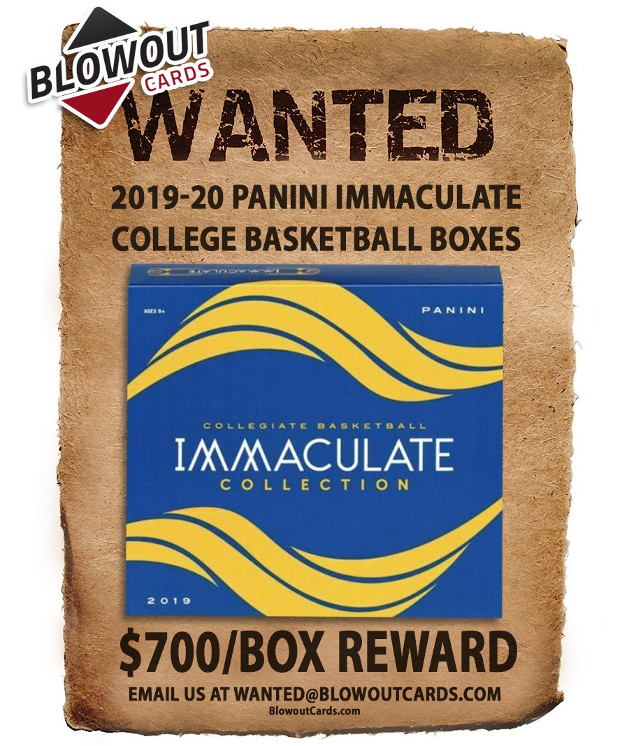 Latest update ...  There are 50+ past Panini boxes in the Blowout's Most Wanted Megapost -- see them all here >>  #collect  @PaniniAmerica #TheHobby #NBA #NFL #MLB #FOTL