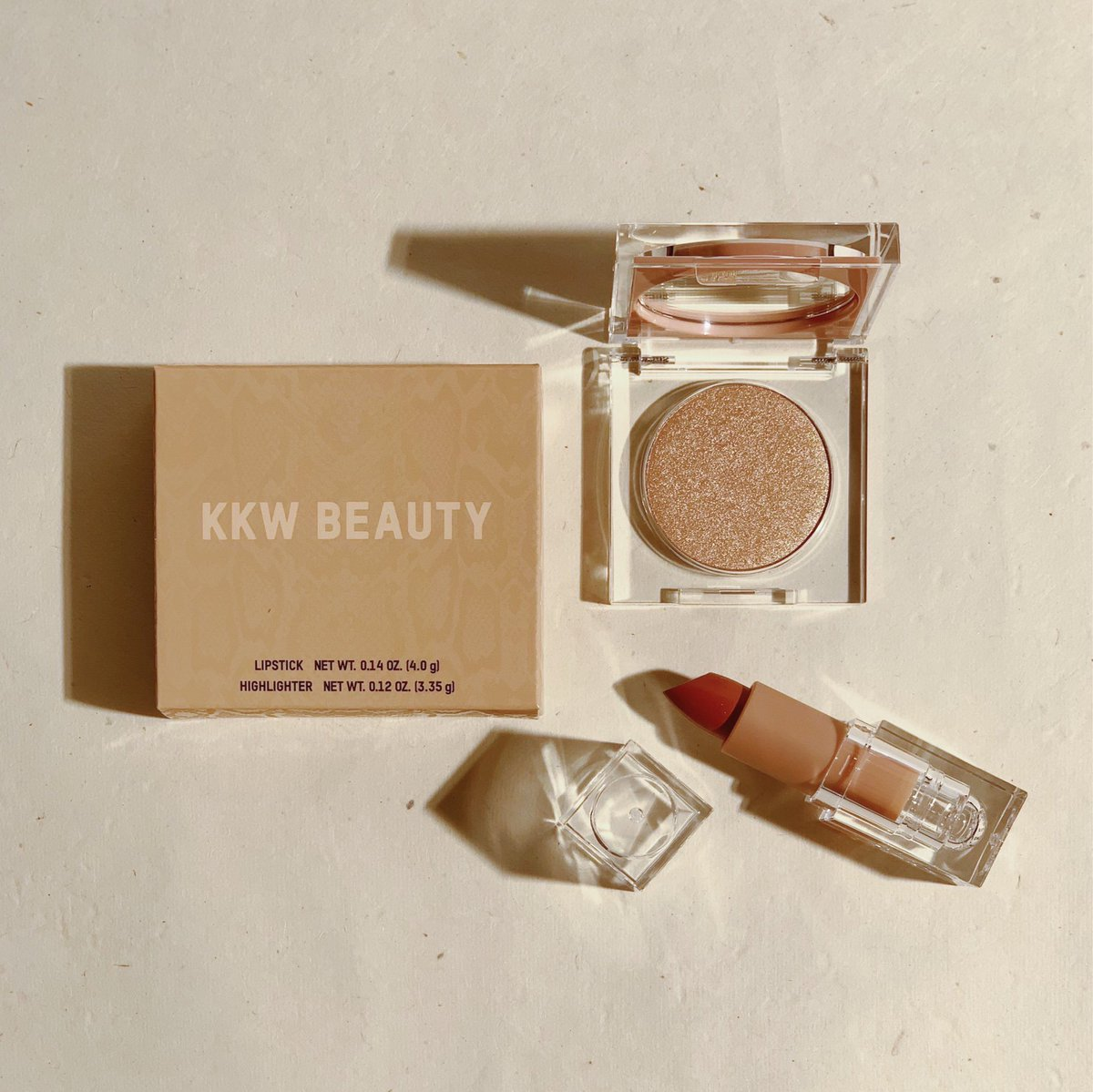 My new @kkwbeauty limited edition Crème Lipstick & Highlight Set!!Available exclusively at all @ultabeauty stores on October 20 #KKWBEAUTY