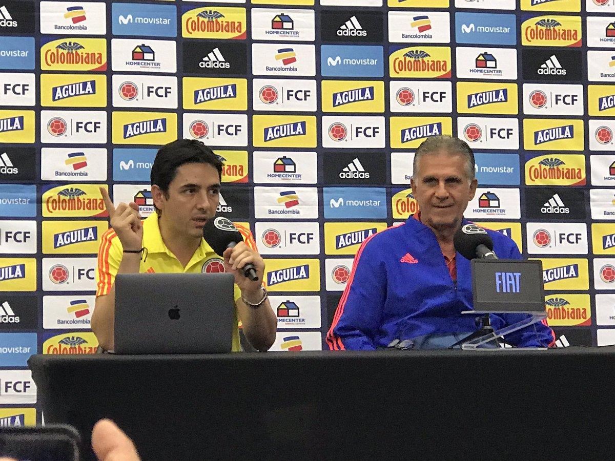 """Colombia coach Carlos Quieroz speaking to the press ahead of Algeria-Colombia friendly: """"Congratulations to Algeria, they played very well during #AFCON2019. Algeria has progressed greatly in terms of discipline and organization, with a very modern, attacking football."""" <br>http://pic.twitter.com/1e7hyzo4zY"""