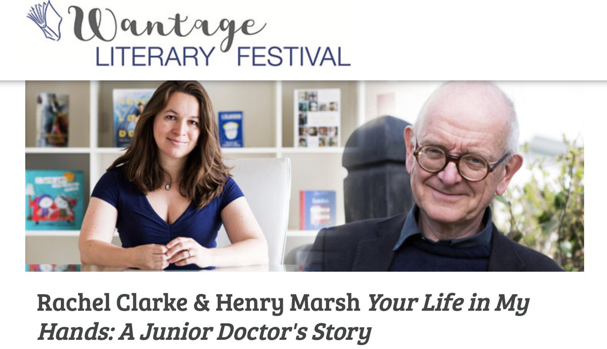 Henry Marsh and I will be discussing life, death, medicine and the NHS at @wantagelitfest. Sat Nov 2nd, 10.30am. Please join us! 💉📚😷👩⚕️ wantageliteraryfestival.co.uk/2019-programme…