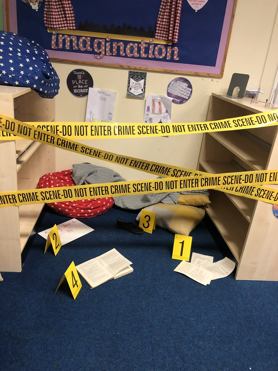 There has been a robbery and Year 4's books are missing. Who did it?  Hopefully this will encourage some exciting newspaper report writing. #nqt #year4 #edutwitter <br>http://pic.twitter.com/CjFE0Inxkk