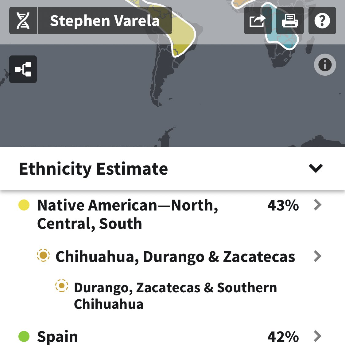 Got back my #ancestrydna results and I must admit I was a little scared about it. I grew up in #ElPaso and everything I know is about being #MexicanAmerican but I knew there was #Spanish in me by visiting #Spain. It was great to see that I split both equally.
