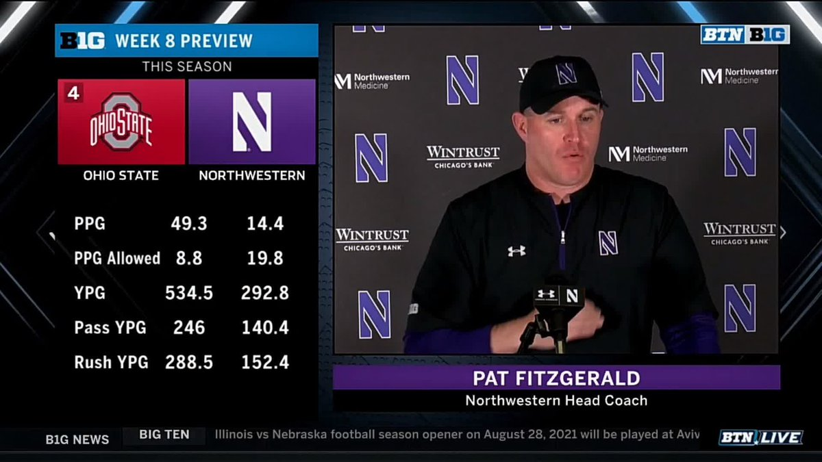 """Pat Fitzgerald Called Justin Fields A """"Rockstar"""" During His Press Conference"""