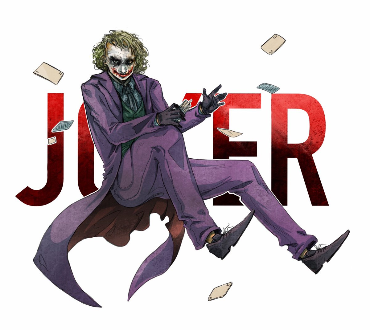 Couldn't sleep and I wanted to finish it so have some more Joker fanart, based on the Dark Knight Tryilogy. Hope you enjoy :) #Joker #Batman #TheDarkKnight