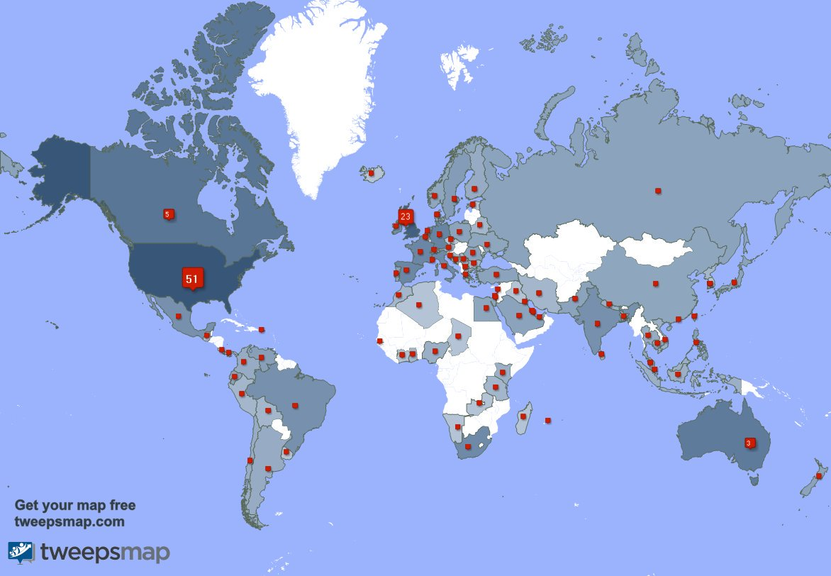 Special thank you to my 22 new followers from USA, and more last week. http://tweepsmap.com/!Betrayed_Pets