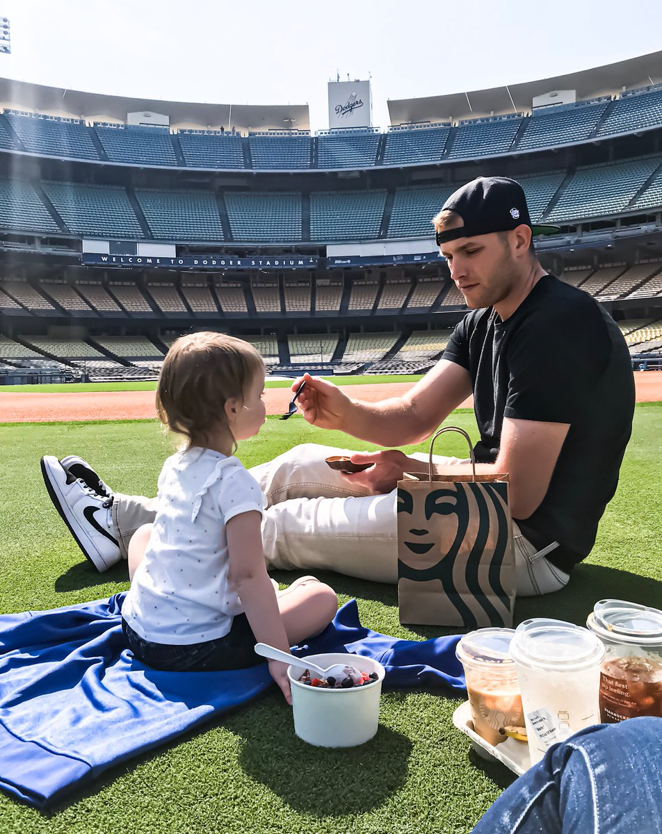 To my family, teammates, coaches, & Dodger Nation, thank you for an amazing season! This was the most challenging yet rewarding season I have ever had. I have learned so much & can't wait to carry it over to next year. Any advice on breaking the news to my toddler? #Lableedsblue