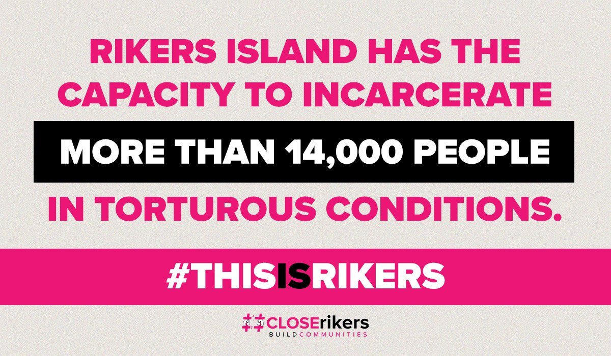 #CLOSErikers has a plan to forever drastically limit this city's ability to detain people. Take this crucial step with us toward ensuring that all of our people are free. Urge your @NYCCouncil Member to stand with us and support our plan on October 17. @NYCMayor #buildCOMMUNITIES