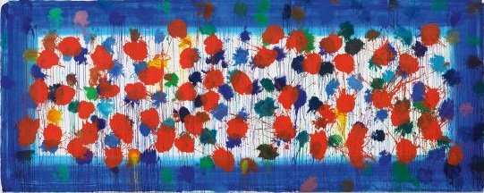 🔷🔹 As Time Goes By (blue) (red), 2009 🔺🔴 Howard Hodgkin (British, 1932 - 2017)
