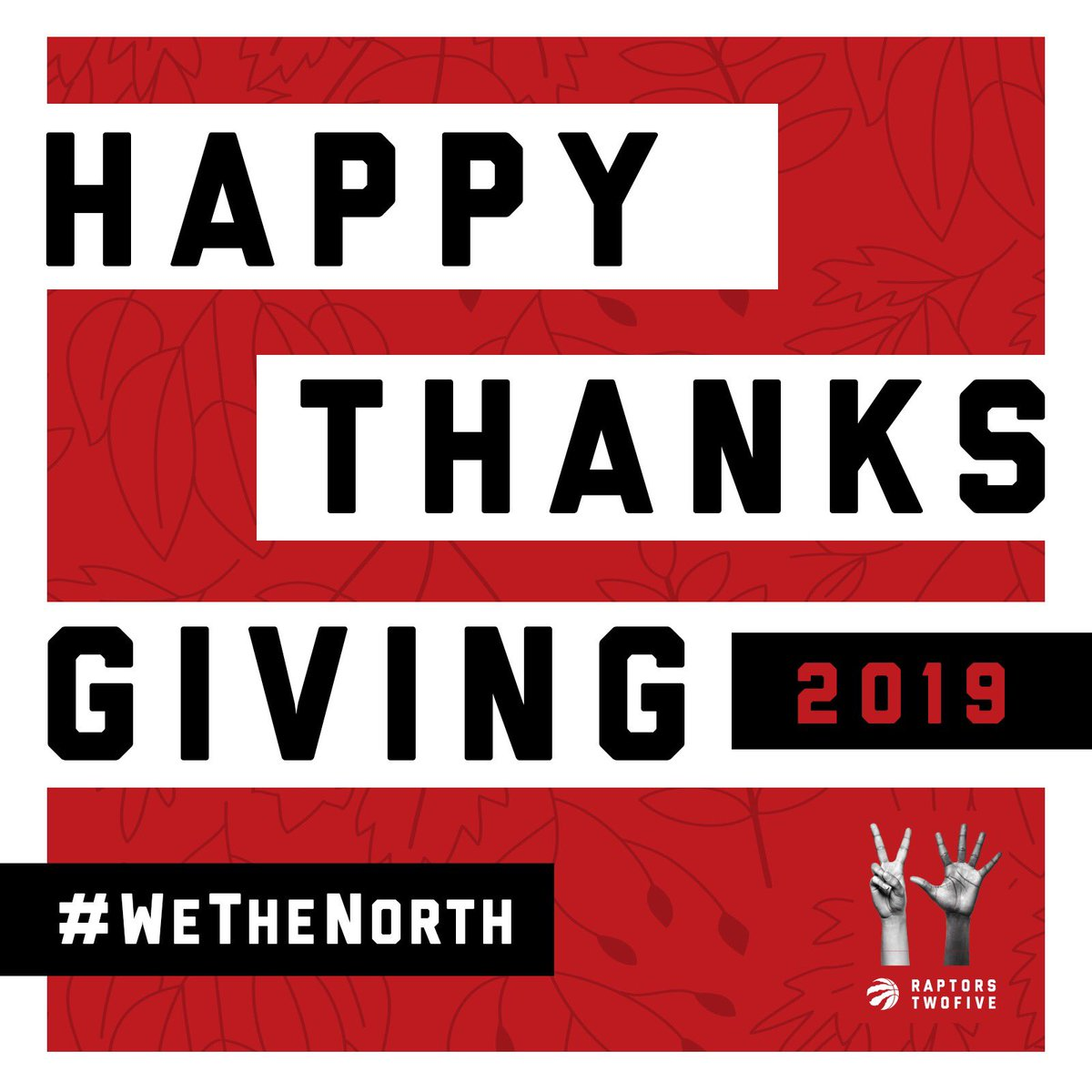 From all of us to all of you. Enjoy that 🦃 today, Canada. #WeTheNorth