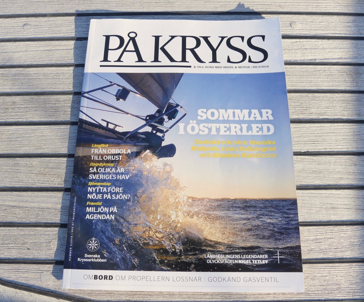 Cover girl! DD2 was on the cover of På Kryss magazine (nr 5/2019)⛵️The original photo was taken at Airisto, Archipelago of Turku on a beautiful November day a year ago. #sailing #segling https://t.co/binOhXh4JS