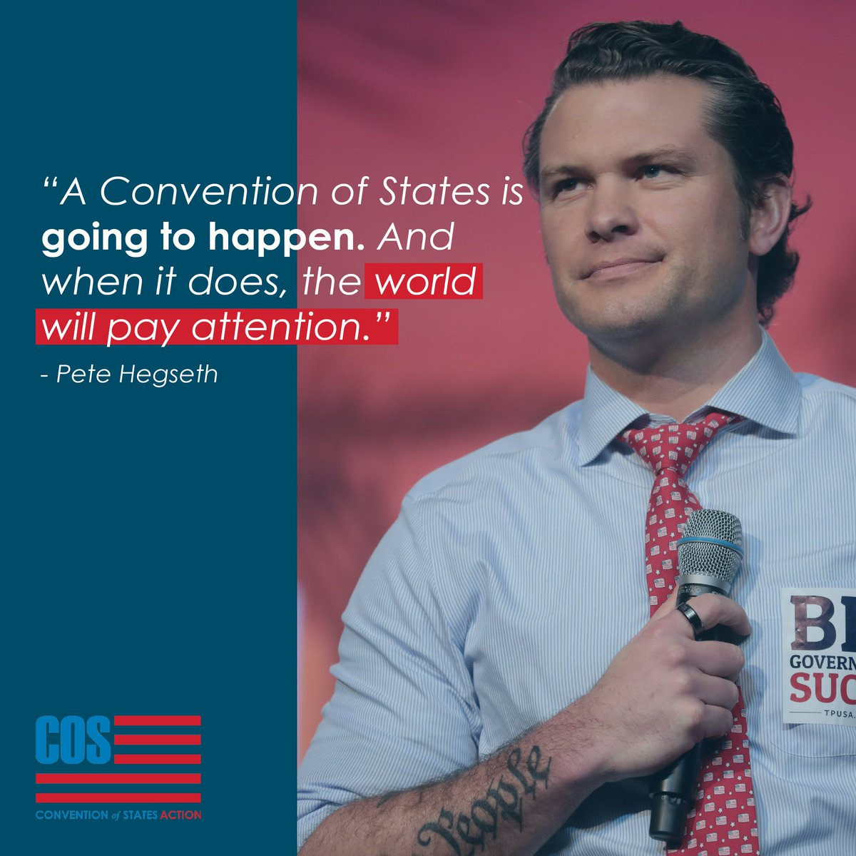 Are you ready to make history? Pete Hegseth is. Join us → conventionofstates.com/take_action @PeteHegseth