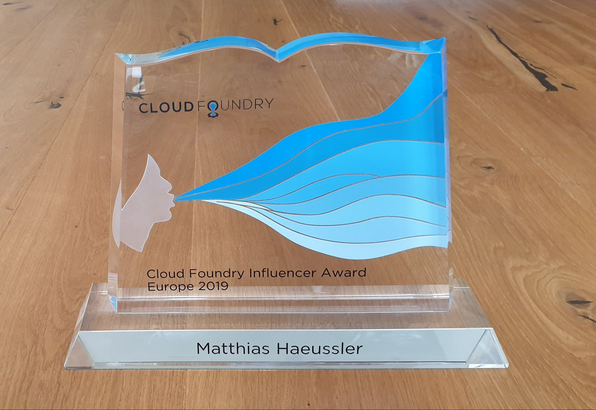 what a nice surprise :) returning from @s1p after giving a talk about @cloudfoundry (what else would I talk about?) finding the personalized award in my mailbox ... I will need to find a special place for this! THANKS community, I won't forget this moment!! #cfsummit <br>http://pic.twitter.com/kr8jnJdnPv
