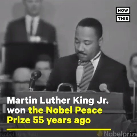 At age 35, Dr. Martin Luther King Jr. was the youngest man to receive the Nobel Peace Prize. King received the Nobel Peace Prize at the University of Oslo on 10 December, 1964. PLEASE LISTEN TO THIS REMARKABLE SPEECH