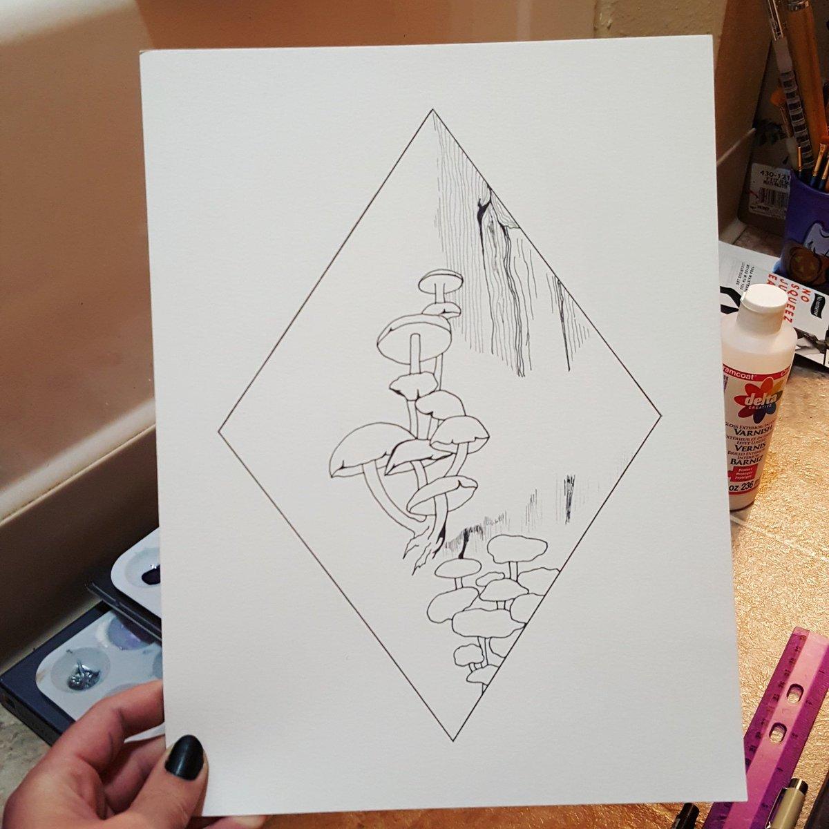 Maelie Jade On Twitter Inktober 14th Overgrown Painted With Watercolours Inktober Inktober2019 Inktober Mushrooms Watercolor Watercolorpainting Painting Https T Co Wpacakgrs4