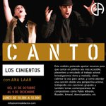 Image for the Tweet beginning: CICLO CANTO, con Ana Laan