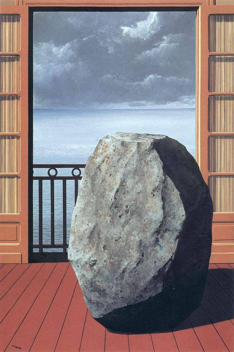 Invisible world, 1954 wikiart.org/en/rene-magrit… #wikiart #magritte