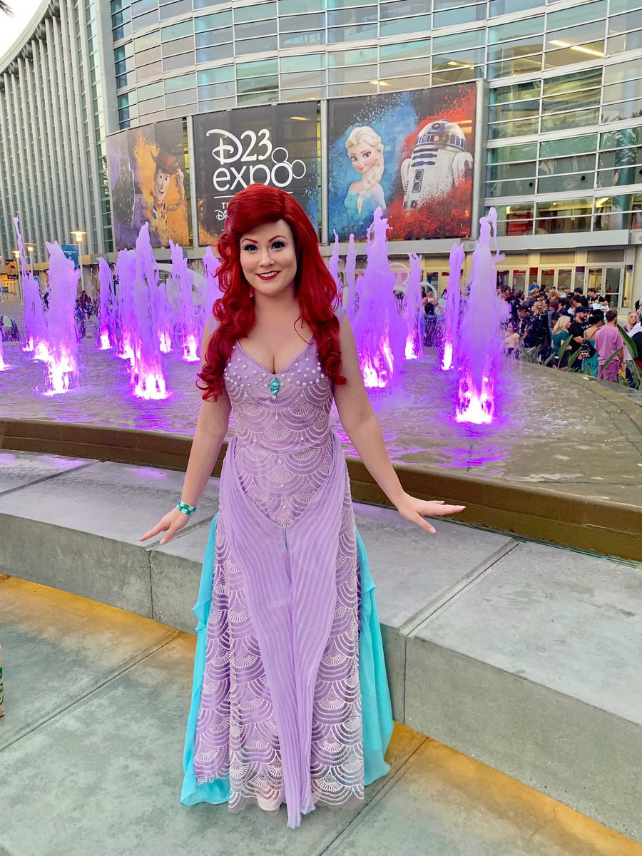 I don't know when, I don't know how, but I know somethings starting right now...Monday. #TheLittleMermaid #disney #Ariel #D23Expo #Mermaid #cosplayer<br>http://pic.twitter.com/HA2VG2nMye