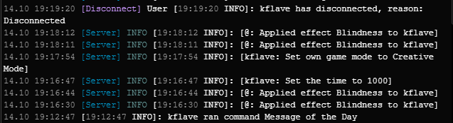 when you log onto your server console and just see this is @The_Kflave okay 😂