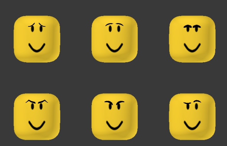 Maplestick On Twitter There S Nearly 150 Roblox Faces Without Eyebrows The Addition Of Brows As Face Accessories Would Open A Whole New World Of Unique Expressions Https T Co Jsmefgiy9m