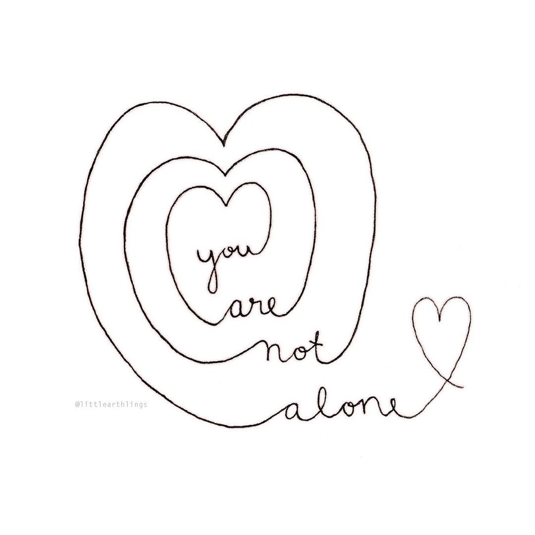 Remember: You are not alone Image: littlearthlings etsy.com/ca/shop/little…