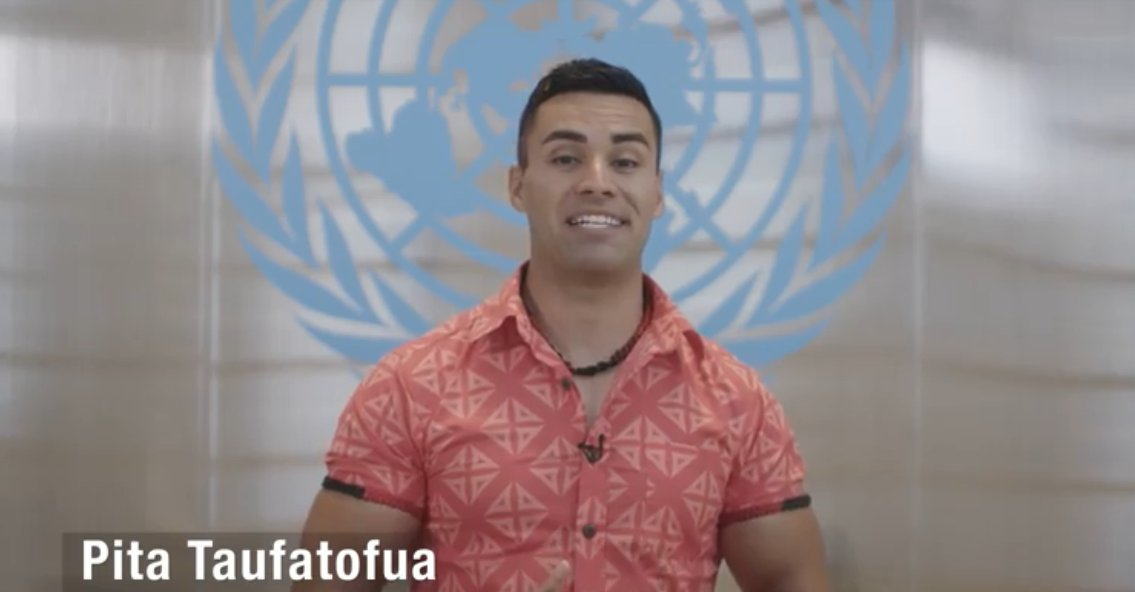 """I'm here to advocate for the oceans that have looked after us since the beginning of time. It's time for us to be looking after them.""   -- Olympian & @UNICEF Pacific Ambassador @pitaTofua calls for urgent #ClimateAction in this @facebook video: http://bit.ly/35CJEEK"
