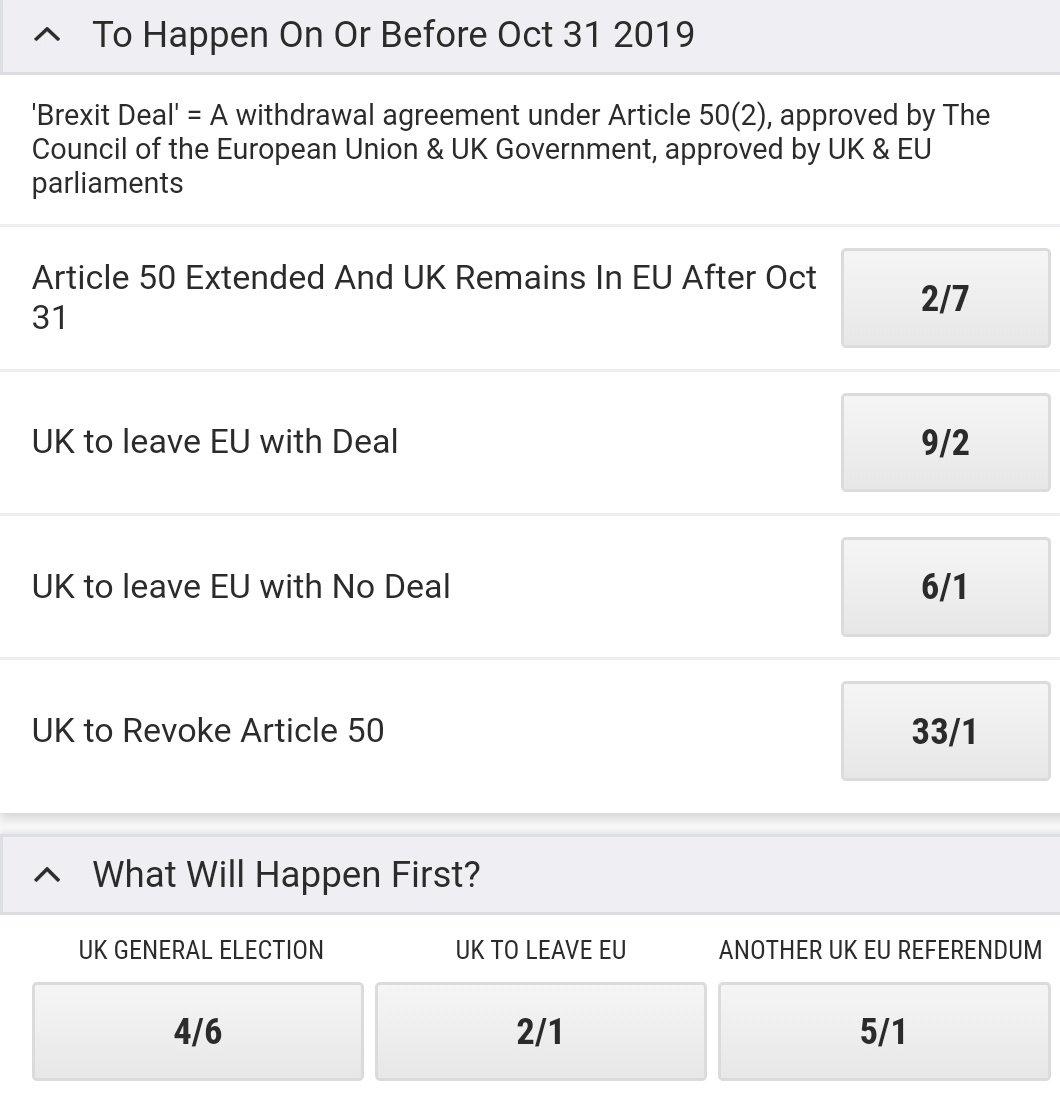 Latest Brexit odds #Newsnight