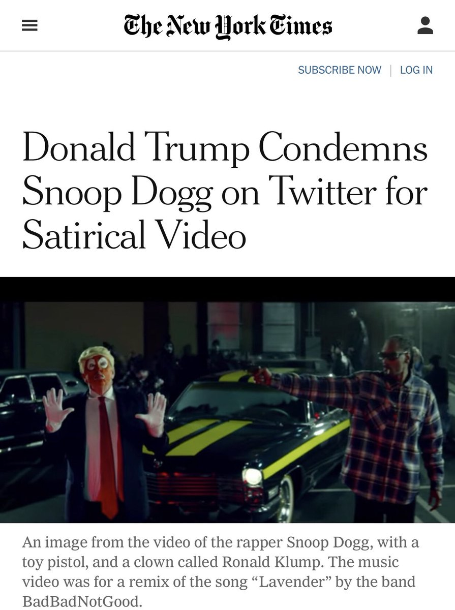 """When a video was made about assassinating President Trump, the media defended it as """"satire.""""   President Trump condemns ALL violence. The same can't be said for the left.   The liberal hypocrisy is never ending! <br>http://pic.twitter.com/RlrZbmzUTt"""