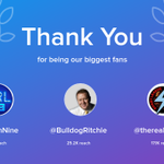 Our biggest fans this week: NRLonNine, BulldogRitchie, therealsteavis. Thank you! via https://t.co/zaBn22eelW