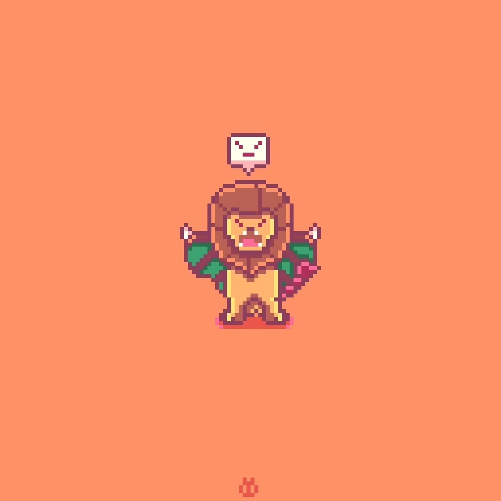 #Blocktober Day 15 🦁 #Manticore 😄 (Made with @aseprite #aseprite) #8bit #16bit #pixelart #commissions #commissionsopen #commissions #game #games #mythology #inktober