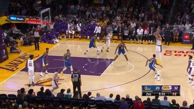 #RT @NBA: 👌 JaVale McGee dials one up from distance! #NBAPreseason   @Lakers 41 @warriors 31  📺: @NBATV