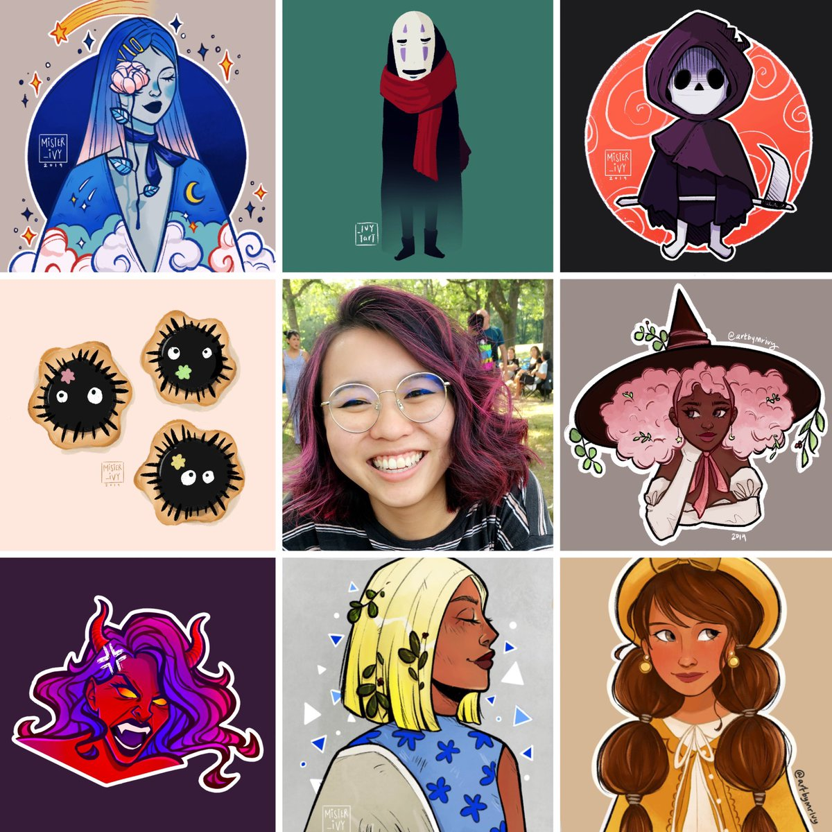 Woot!  Hope I'm not too late for #artvsartist2019!  Hey, I'm Ivy!  I'm a digital illustrator and game dev.   I like drawing and experimenting with different styles!   #artvsartist #VisibleWomen #digitalart<br>http://pic.twitter.com/KvJqS4Tti6