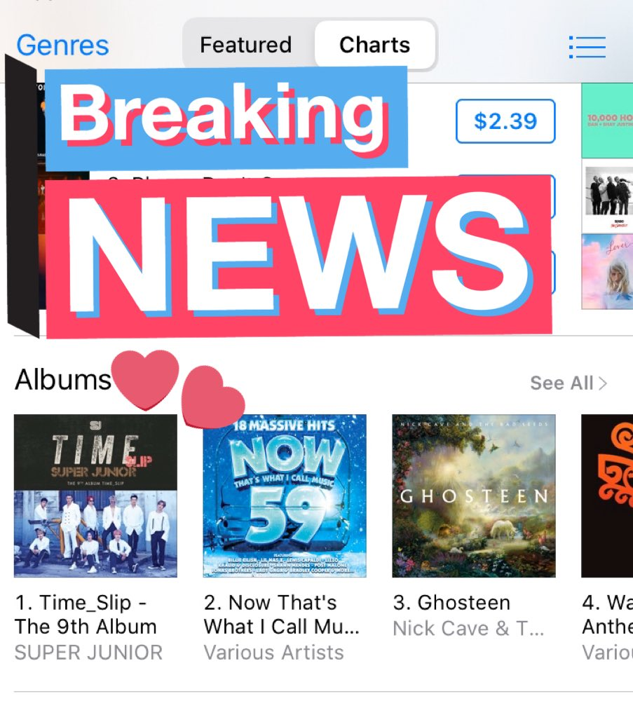 SJ time slip ranking 1 on Album in New Zealand, kiwi ELF we did it  <br>http://pic.twitter.com/8Hf6UlOQ3O