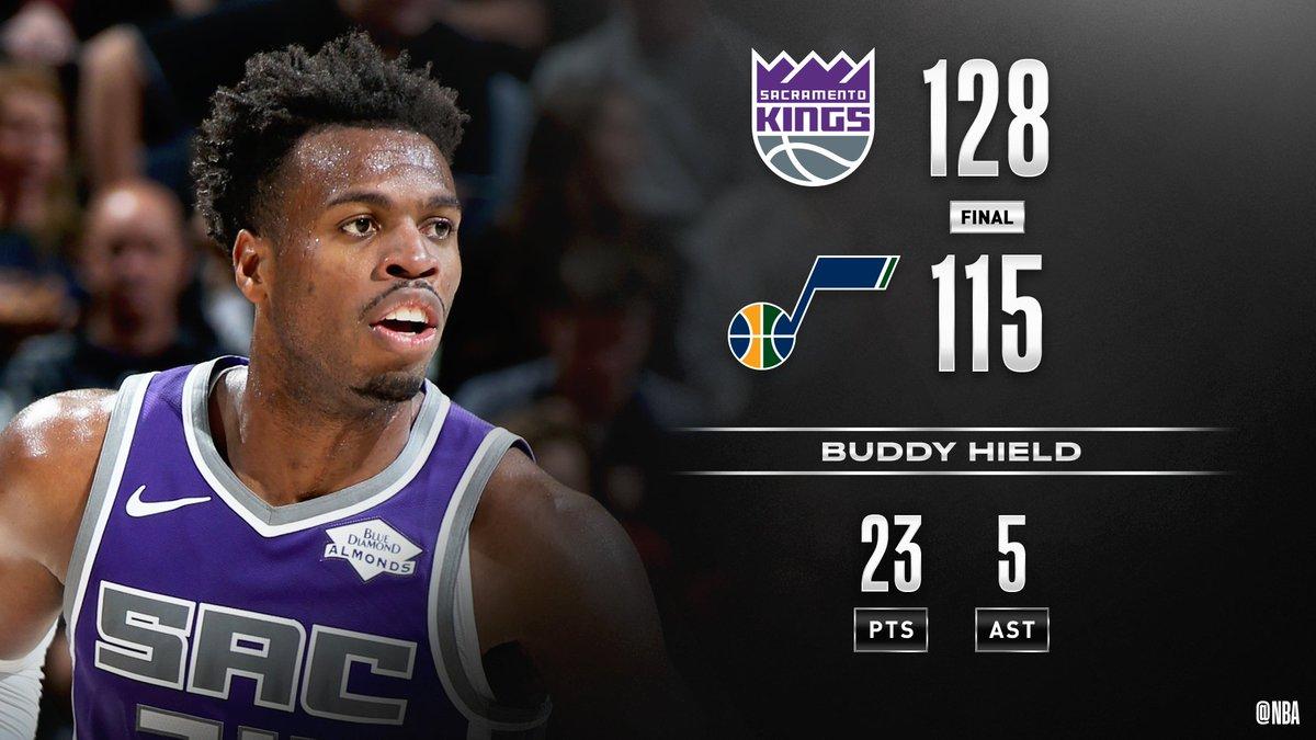 #RT @NBA: @MiamiHEAT @hornets @dallasmavs Buddy Hield scores a game-high 23 PTS to push the @SacramentoKings past UTA in Salt Lake City! #NBAPreseason   Marvin Bagley III: 22 PTS, 11 REB Bogdan Bogdanovic: 16 PTS, 8 AST