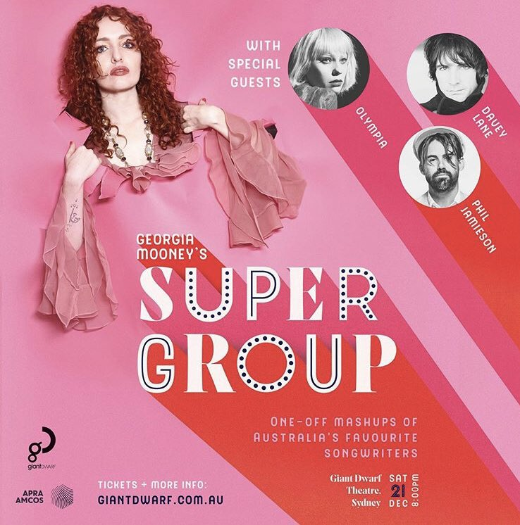 Forgetting my fear of improv, I'll be joining @DaveyLane1 and @philjamieson as part of Georgia Mooney's SUPERGROUP on December 21st at Giant Dwarf Theatre in Sydney. 💖💖💖 For tickets and more info go to: https://t.co/d9WzsEd87E https://t.co/j4wfSJrXSR