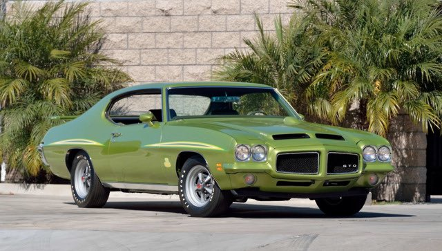 Gorgeous 71 GTO Judge in lively Tropical Lime #purepontiac