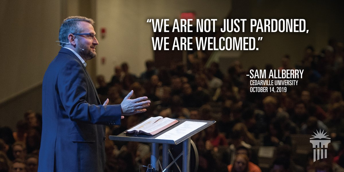 .@SamAllberry answered the question Does God Care? using Isaiah 40:1-11 in #CUinChapel this morning. God wants more than just to forgive our sins. He is interested in intimacy with the people of God. ➡️cedar.to/ChapelArchive
