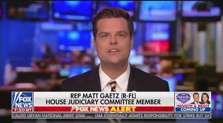 This is proof that Democrats cant win a fair election, they cant win a fair debate, and they absolutely cannot run a fair impeachment inquiry, @RepMattGaetz responded to @seanhannity about being taken out of the impeachment inquiry.