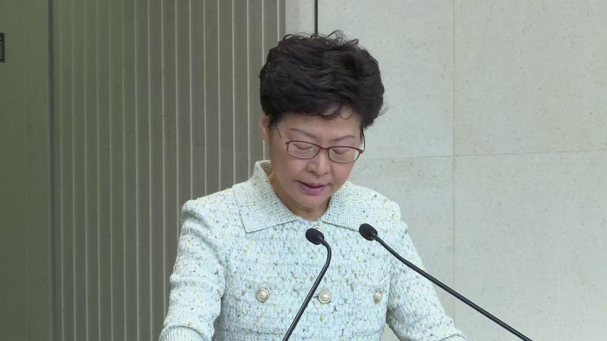 """🇭🇰🇺🇸 """"To describe Hong Kong as a police state is totally unfounded.""""  Leader Carrie Lam says U.S. senators visiting Hong Kong have preconceived views about the city. Senators Josh Hawley, Ted Cruz and Rick Scott have visited the city since the #HongKongProtests #香港 https://t.co/3L2OFQG3zg"""