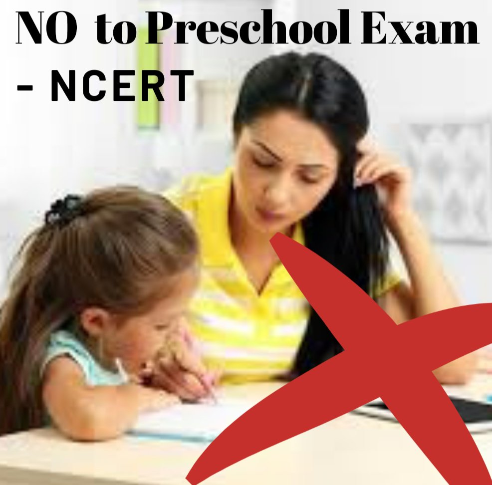 "Big Decision from NCERT for Preschool..!  According to the Council which is the HRD Ministry's curriculum developing body, the purpose of evaluation at the pre-school stage is not to label a child as ""pass"" or ""fail"".  #NCERT #BigDecision  #BigThank #SmallStepTowardsEducation"