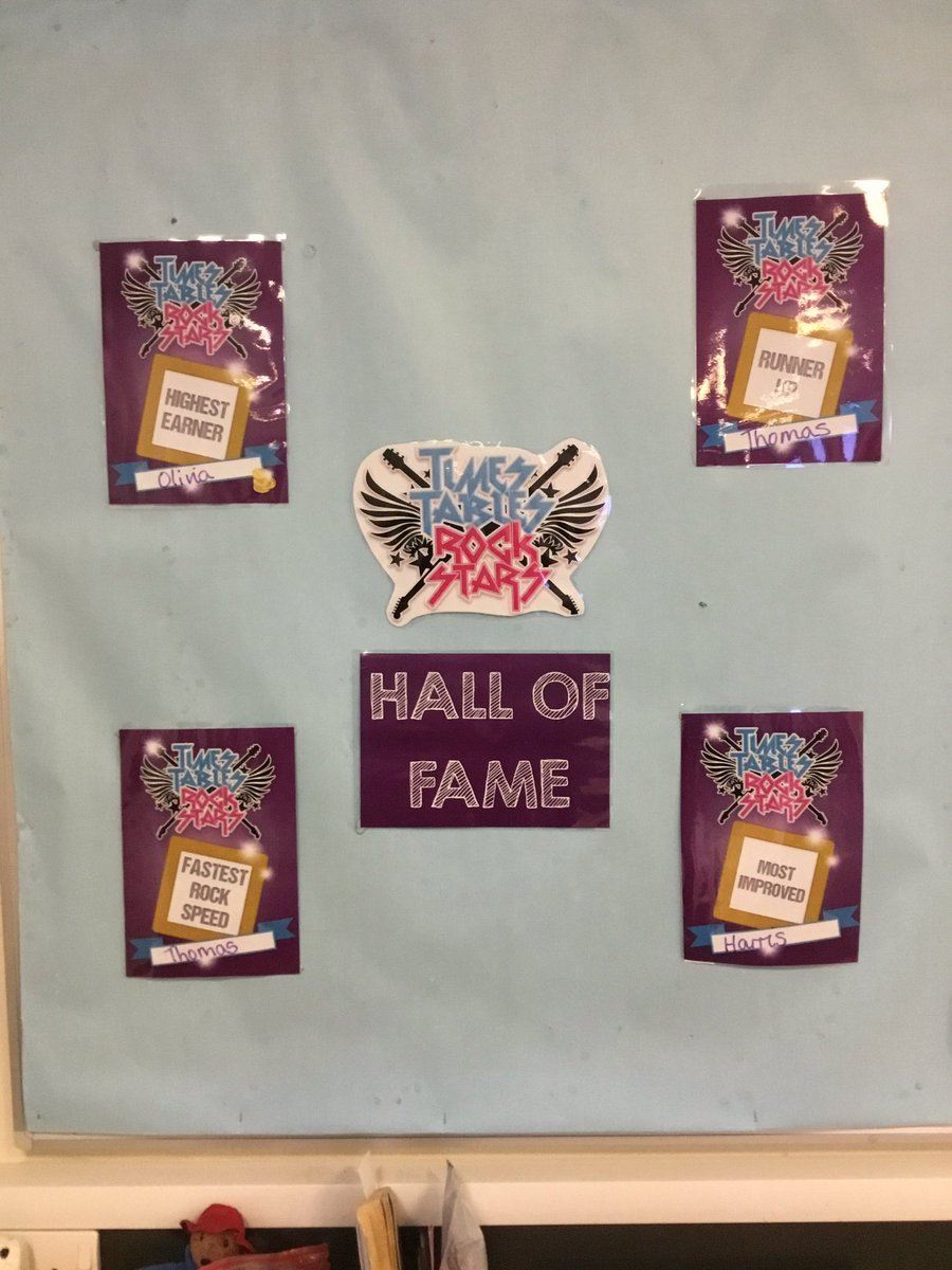 test Twitter Media - Introducing Times Table Rockstars Hall of Fame! Well done to these children who are on there this week! 🏅#gorseymaths https://t.co/0Q6EMMsdAw