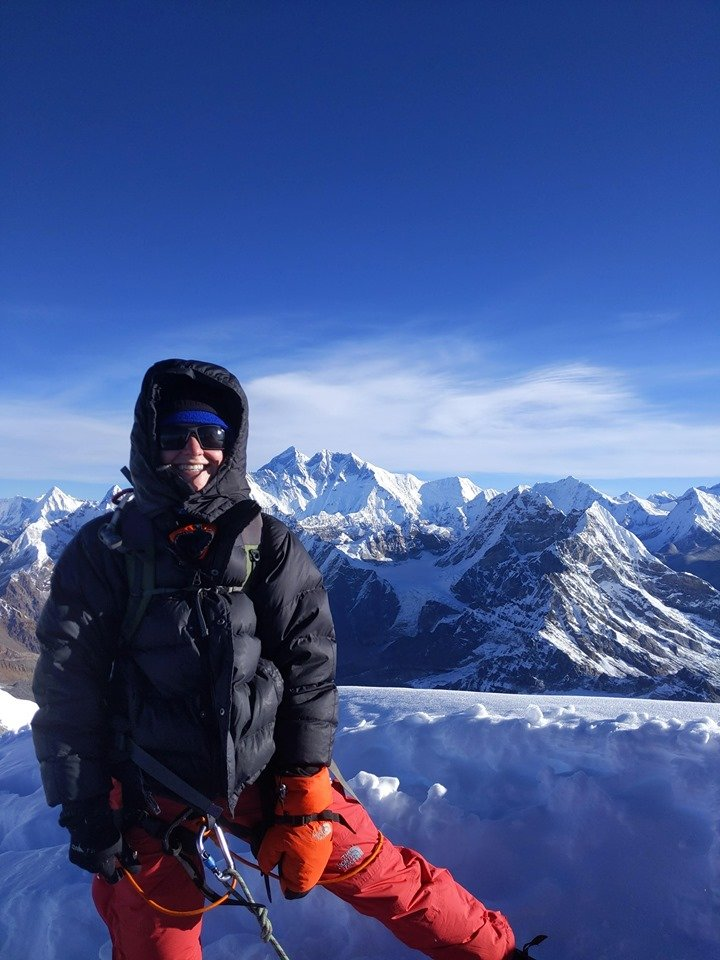 Summit picture & view from Mera Peak 6476 m 😀Plan this amazing climb in the Himalaya of Nepal for 2020/2021. #MeraPeak #Nepal #AdventureTrips #NepalTrips  #Himalaya #Climbing #NepalNow #NepalMountains #LocalOperator #Sherpa #MountainTrips #LifetimeExperiences #VisitNepal2020