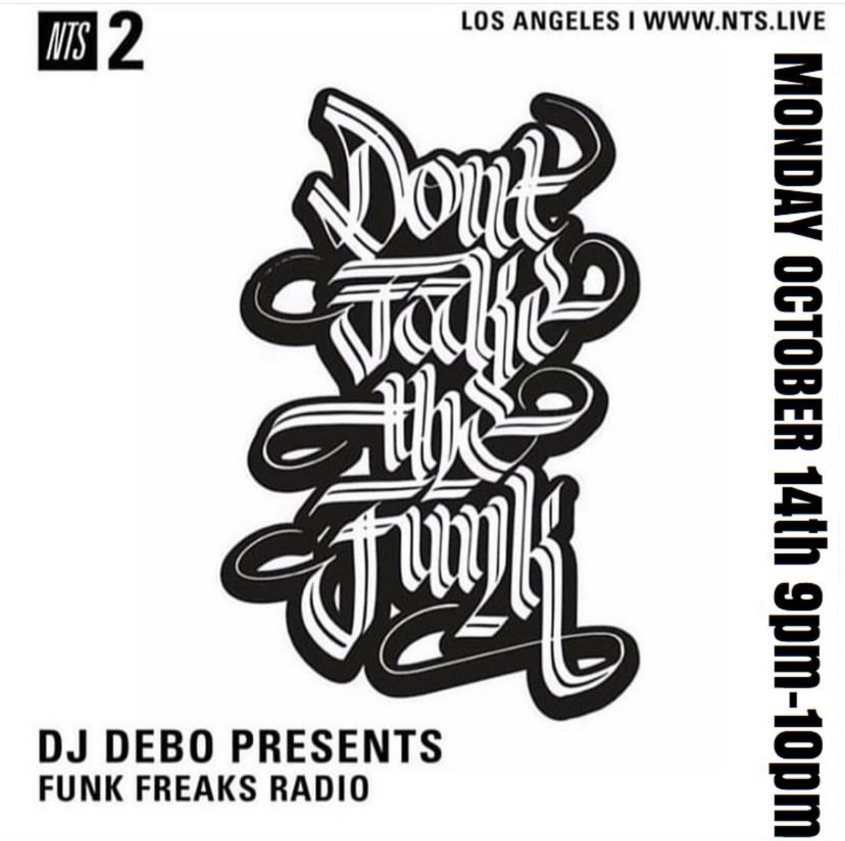 It's @FunkFreaks Radio w/ DJ Debo live from LA for the next hour. Lock in: nts.live/2