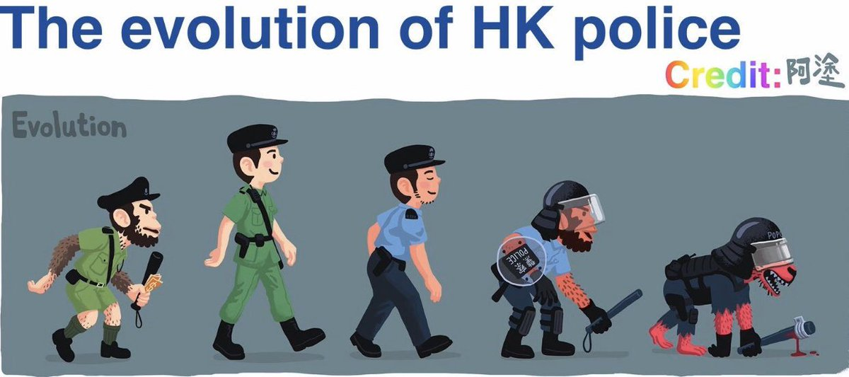 @HawleyMO Exact correct description - #PoliceState.  Off-duty HKPF hv been given permission to carry pepper spray in addition to batons.  Soon they can carry guns & shoot/kill anybody w/ no consequences. We dunno if they r just mobs or polices as they act like mobs with no ID https://t.co/aK5X14zr91
